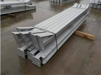 30' x 20' x 10' Steel Frame Building, 15' Bays 12.5 Degree Roof Pitch, Purlin Cleats spaced for Fibre Cement, Steel Roof Sheets, Main Frame Fixings - жилой контейнер